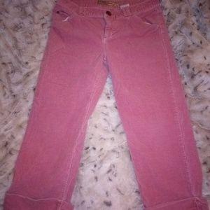 Pink Corduroy capris